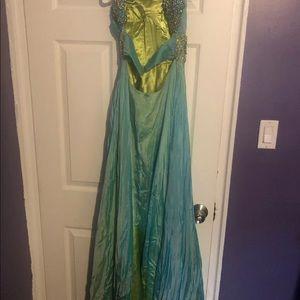 Sherri Hill Turquoise Dress